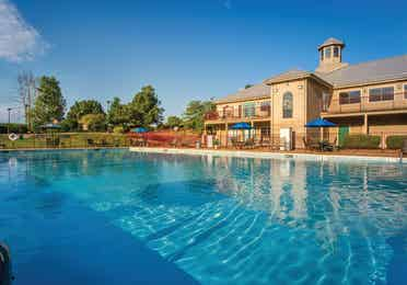 Outdoor pool at Timber Creek Resort in De Soto, Missouri.
