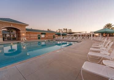 Outdoor pool at Piney Shores Resort in Conroe, Texas.