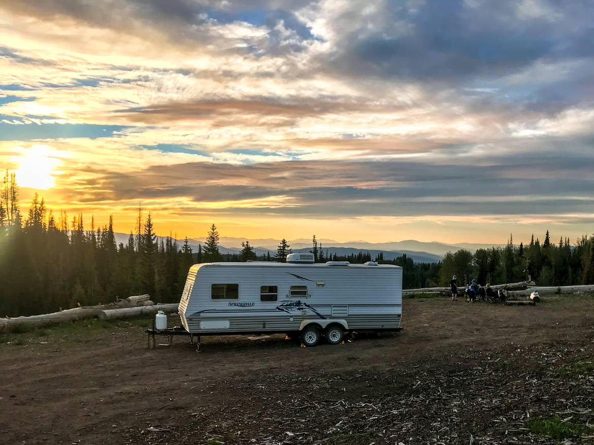 Sunset behind the RV