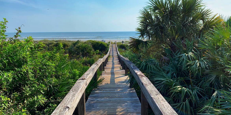 Boardwalk leading to New Smyrna Beach