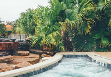 Lazy river in River Island at Orange Lake Resort near Orlando, Florida