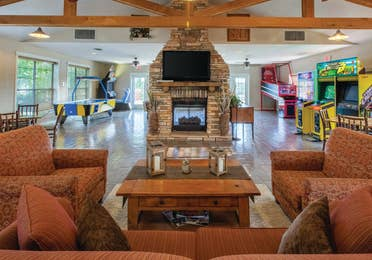 Activity Center with arcade games at Timber Creek Resort in De Soto, Missouri.