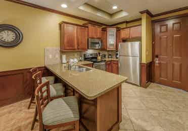 Kitchen in a three-bedroom ambassador villa at Galveston Seaside Resort