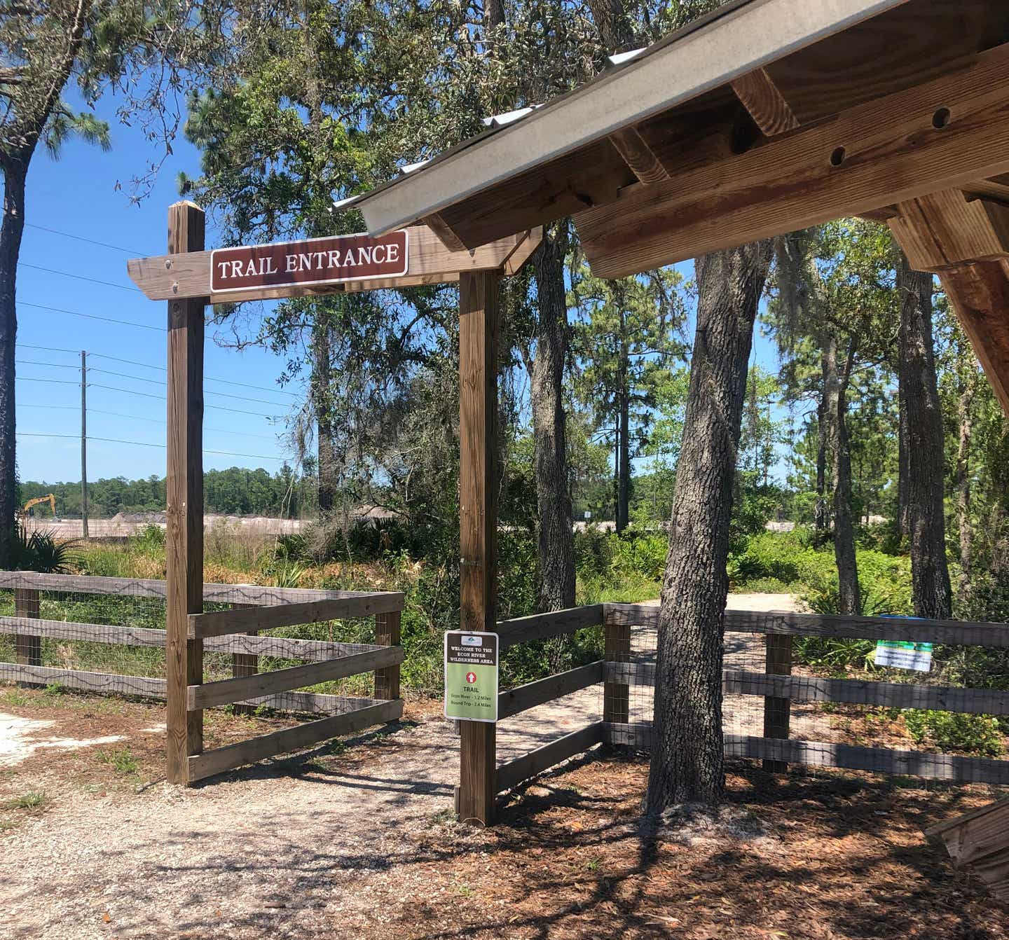 Trail entrance for the Econ River Wilderness Area