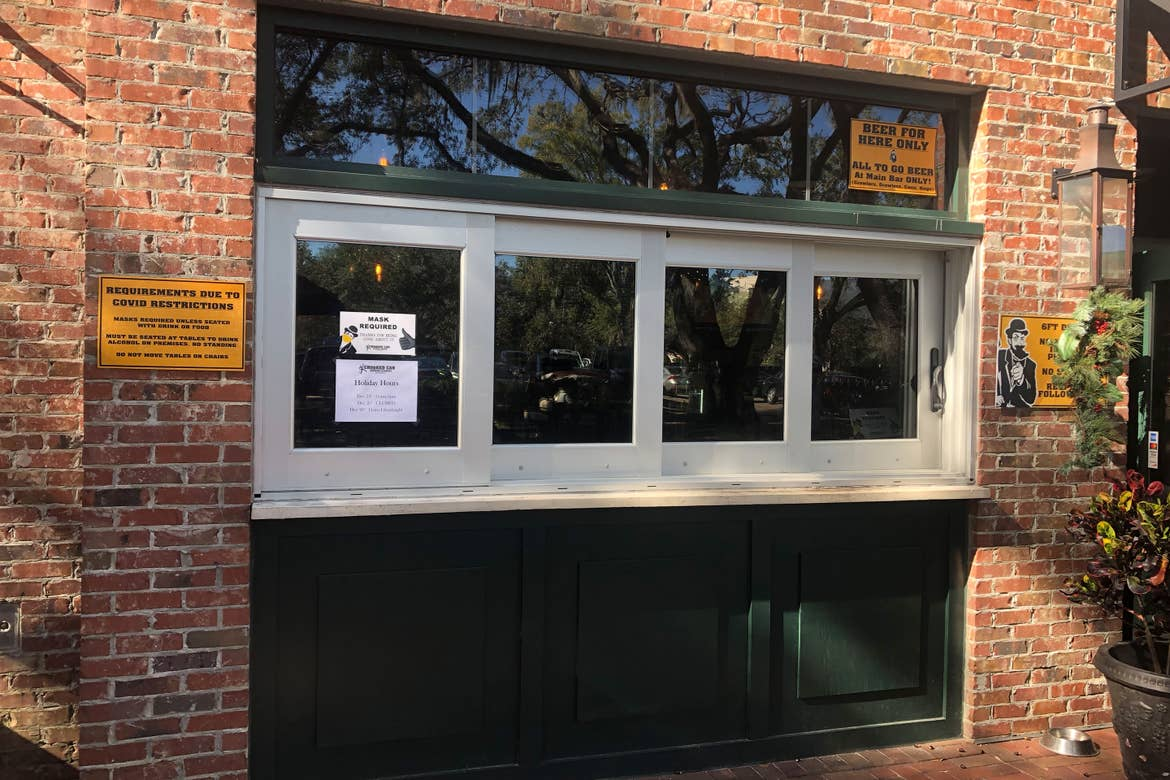 Exterior service window at Crooked Can.