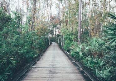 Bridge through Legends Golf Course in East Village at Orange Lake Resort near Orlando, Florida