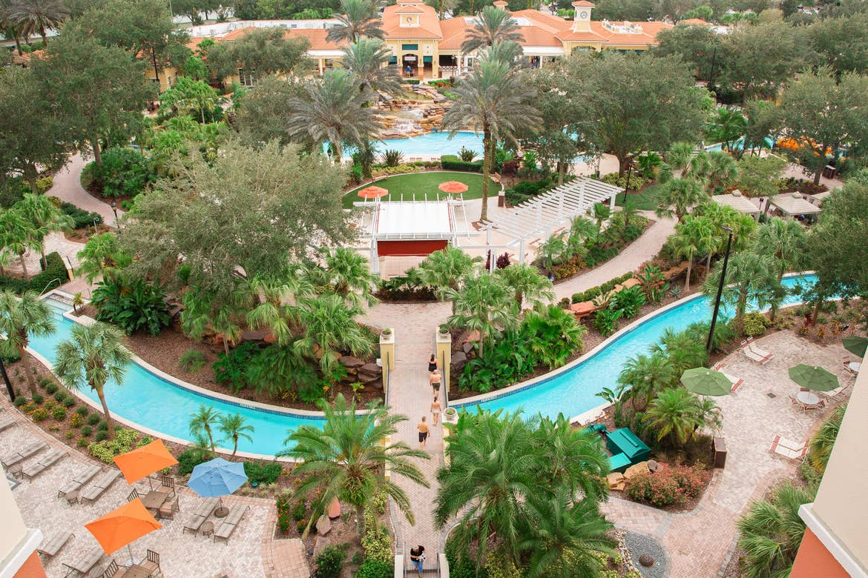 An aerial shot of our Orange Lake resort located near Orlando, FL.