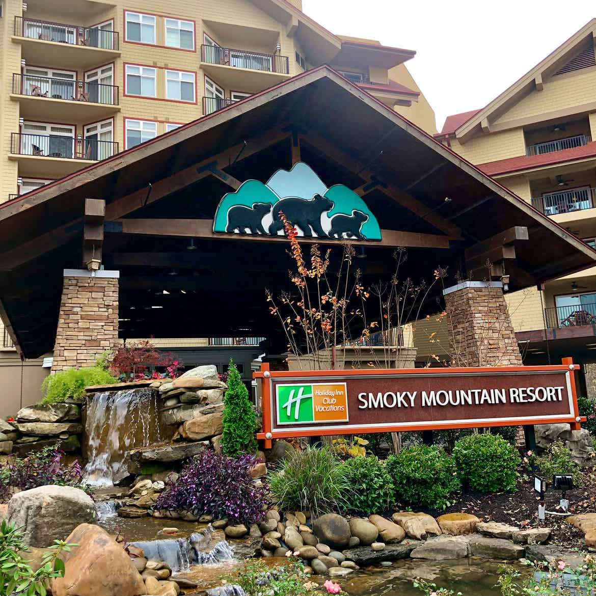 The exterior of our Smokey Moutain Resort located in Gatlinburg, Tennesee.