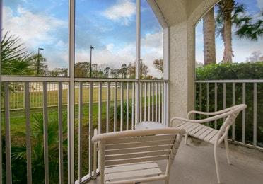 Balcony in a studio villa at South Beach Resort