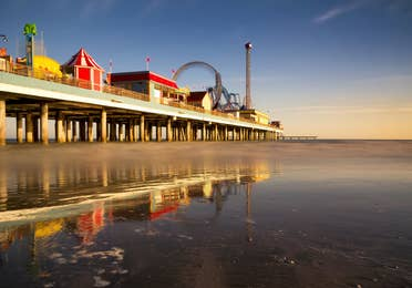 Pleasure Pier near Galveston Beach Resort