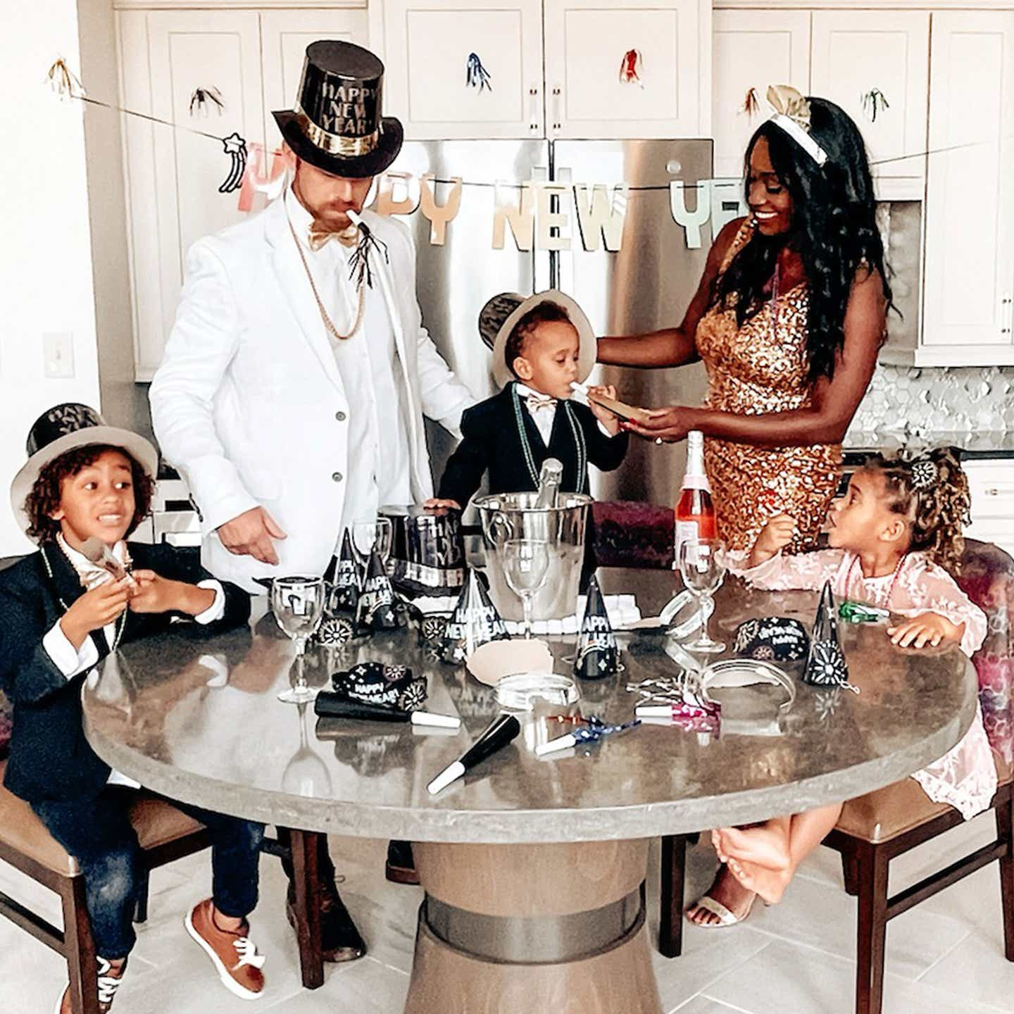 Sally Butan, of The Butan Clan, celebrates New Year's Eve with her family in a Signature Collection villa at New Orleans Resort in Louisiana.
