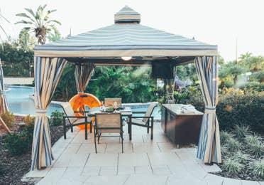 Cabana by the pool in River Island at Orange Lake Resort near Orlando, Florida