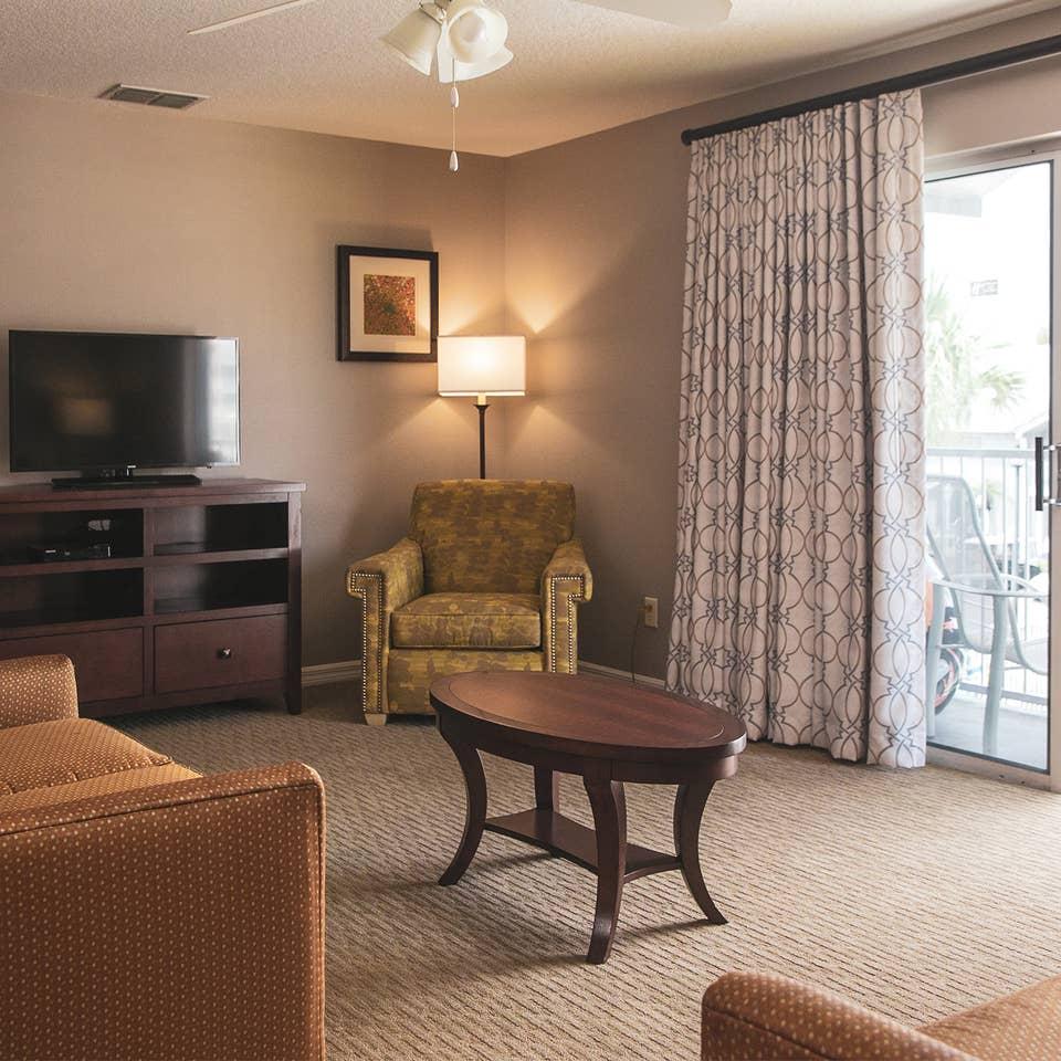 Living room in a three-bedroom villa at Orlando Breeze Resort.