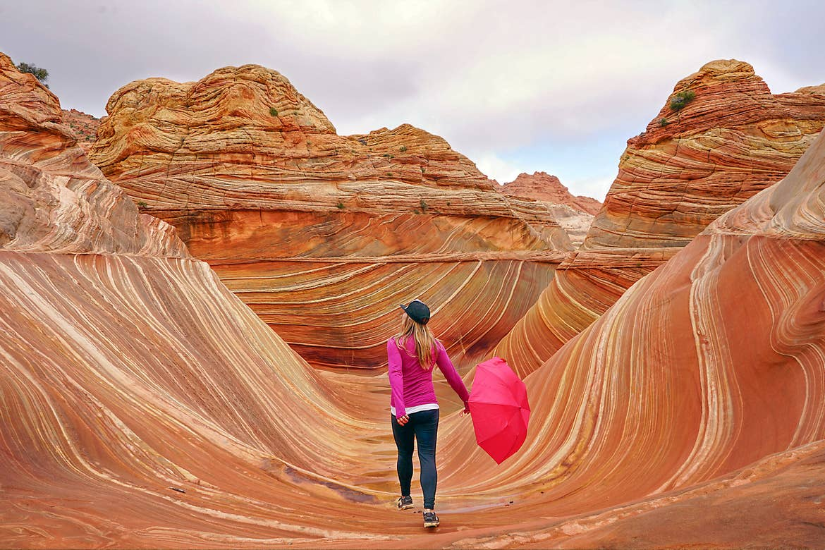 Featured Contributor, Ashlyn George, walks through the colored canyons of Arizona.