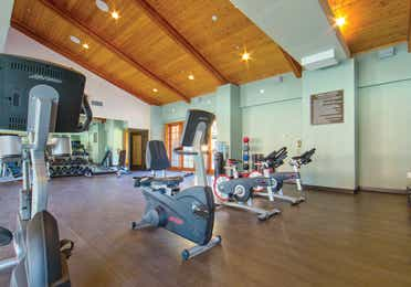 Fitness center with stationary bikes at Scottsdale Resort in Scottsdale, Arizona.