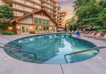Outdoor pool at Smoky Mountain Resort in Gatlinburg, TN.