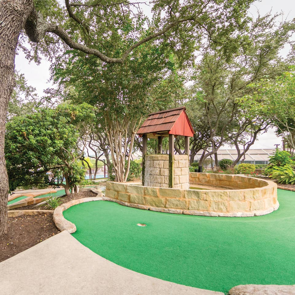 Mini golf course at Hill Country Resort in Hill Country, Texas.
