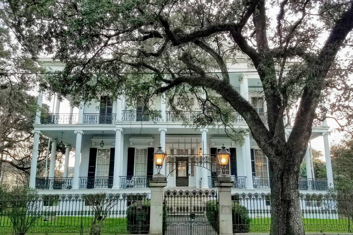 A home exterior located in the Garden District.