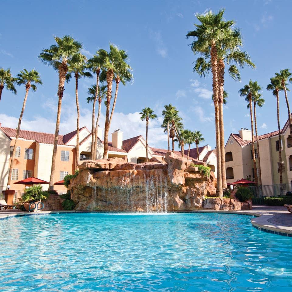 Watering Hole pool at Desert Club Resort in Las Vegas, Nevada.