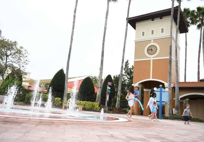 Children's splash pad at Orange Lake Resort near Orlando, Florida