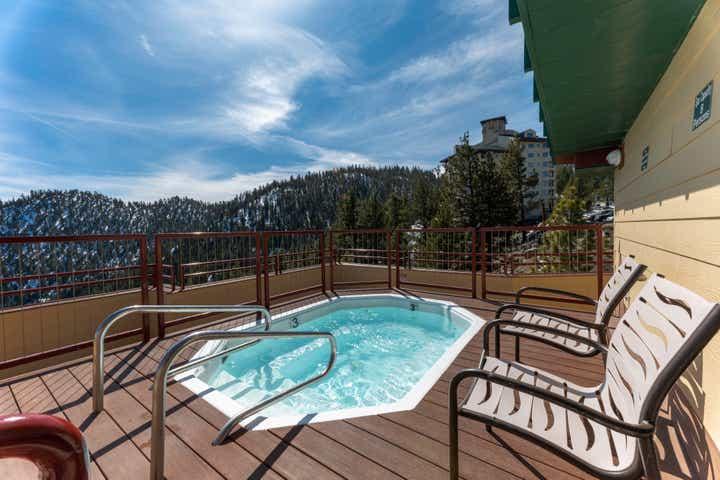 Hot tub at Tahoe Ridge Resort at Stateline, NV