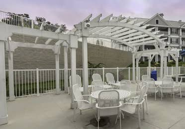 Patio at Hill Country Resort in Canyon Lake, Texas.