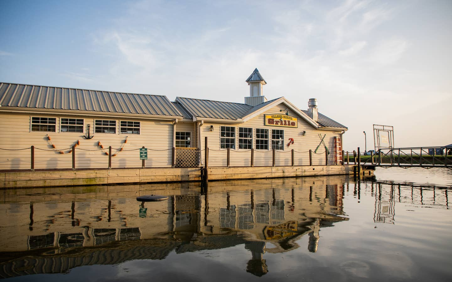 Harbour Grille and Marina at Villages Resort in Flint, Texas.