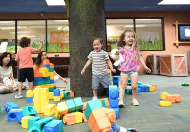 Children playing in game room at Orange Lake Resort near Orlando, Florida