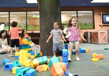 Children playing in game room at Orange Lake Resort near Orlando, Florida