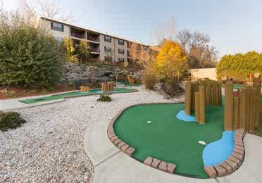Miniature golf course at Oak n' Spruce Resort in South Lee, Massachusetts