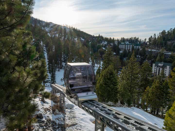 A gondola at the Skier Express at Tahoe Ridge Resort