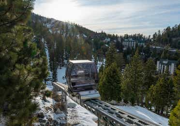 A gondola at the Skier Express at Tahoe Ridge Resort