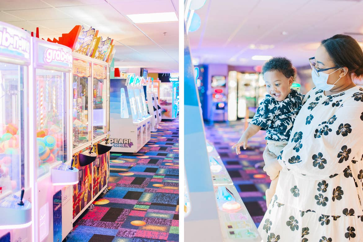 Featured Contributor, Bianca Dottin's children play in the arcade at our Orange Lake Resort in Orlando, Florida.