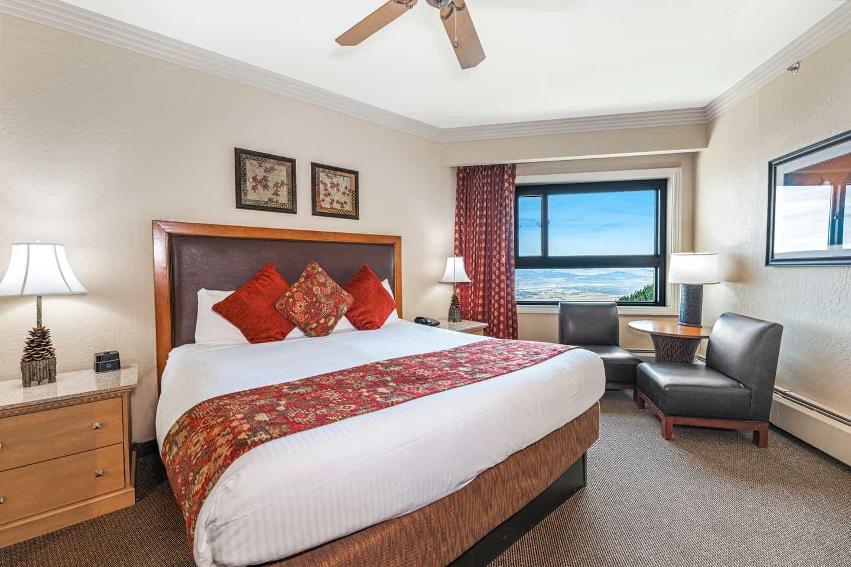 Bedroom in a Ridge Tahoe two-bedroom villa at Tahoe Ridge Resort