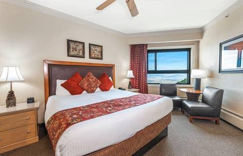 Bedroom in a Ridge Tahoe villa at Tahoe Ridge Resort