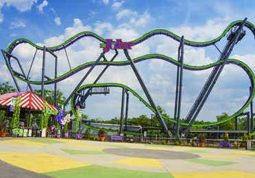 Six Flags® New England near Oak n' Spruce Resort in South Lee, Massachusetts.