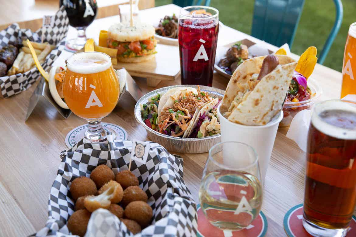 Various food and beverage options from À La Cart.