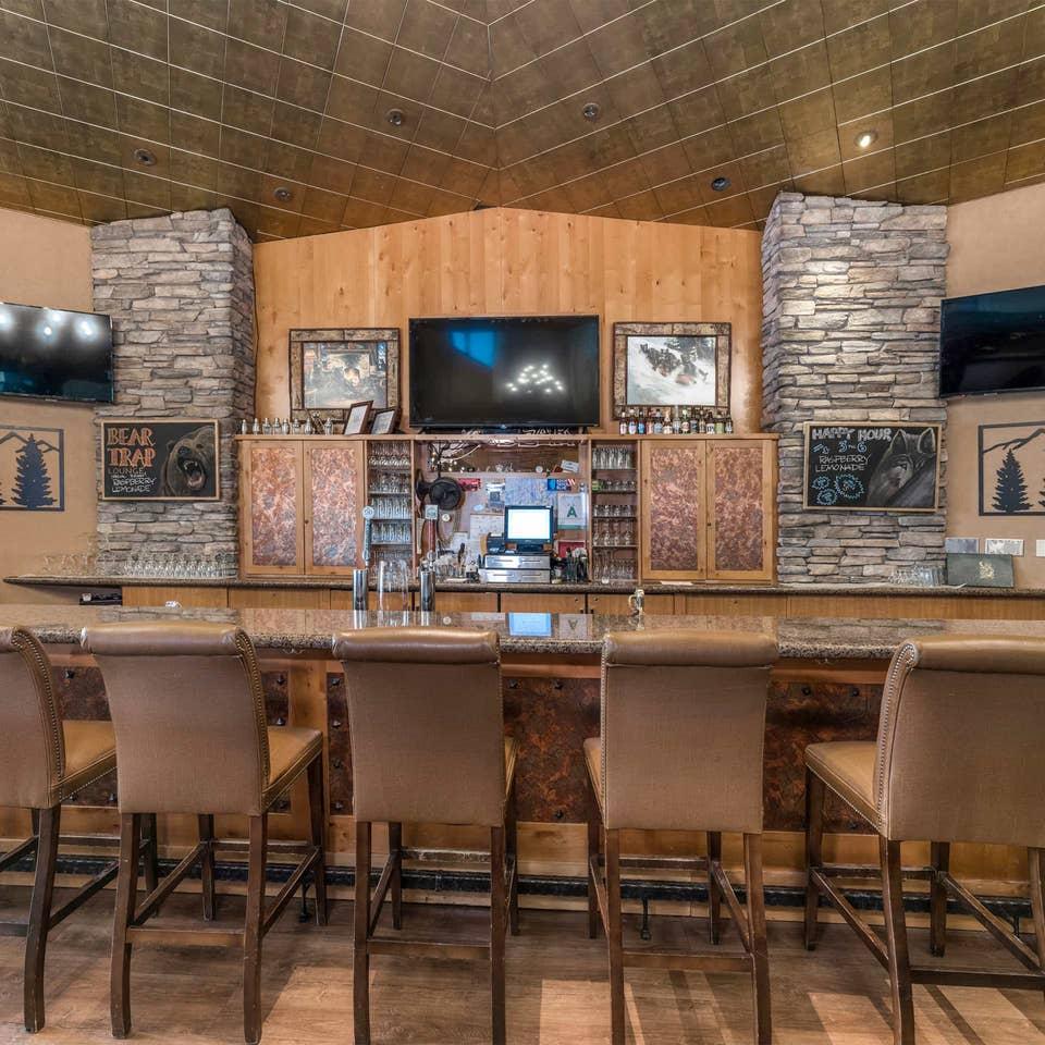 Clubhouse bar at Tahoe Ridge Resort