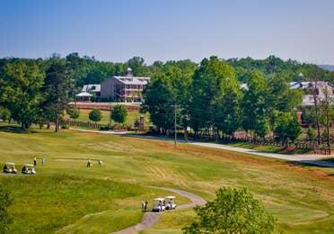Golf course near Apple Mountain Resort in Clarkesville, GA