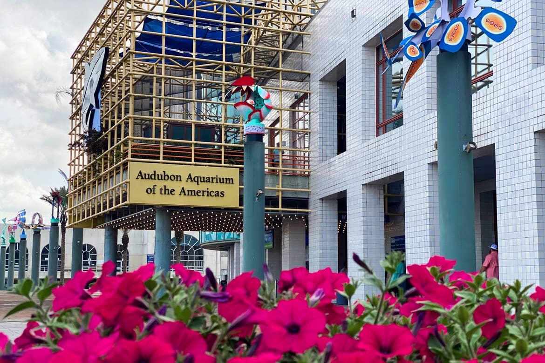 The exterior of the Audobon aquarium.