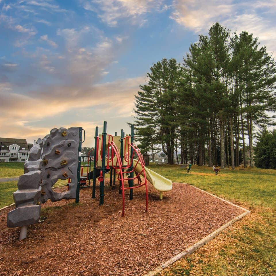 Outdoor playground at Mount Ascutney Resort in Brownsville, Vermont.