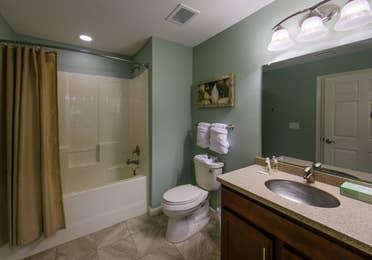 Bathroom in a villa at Orlando Breeze Resort.