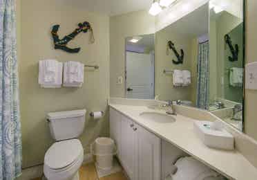 Bathroom in a studio villa at South Beach Resort