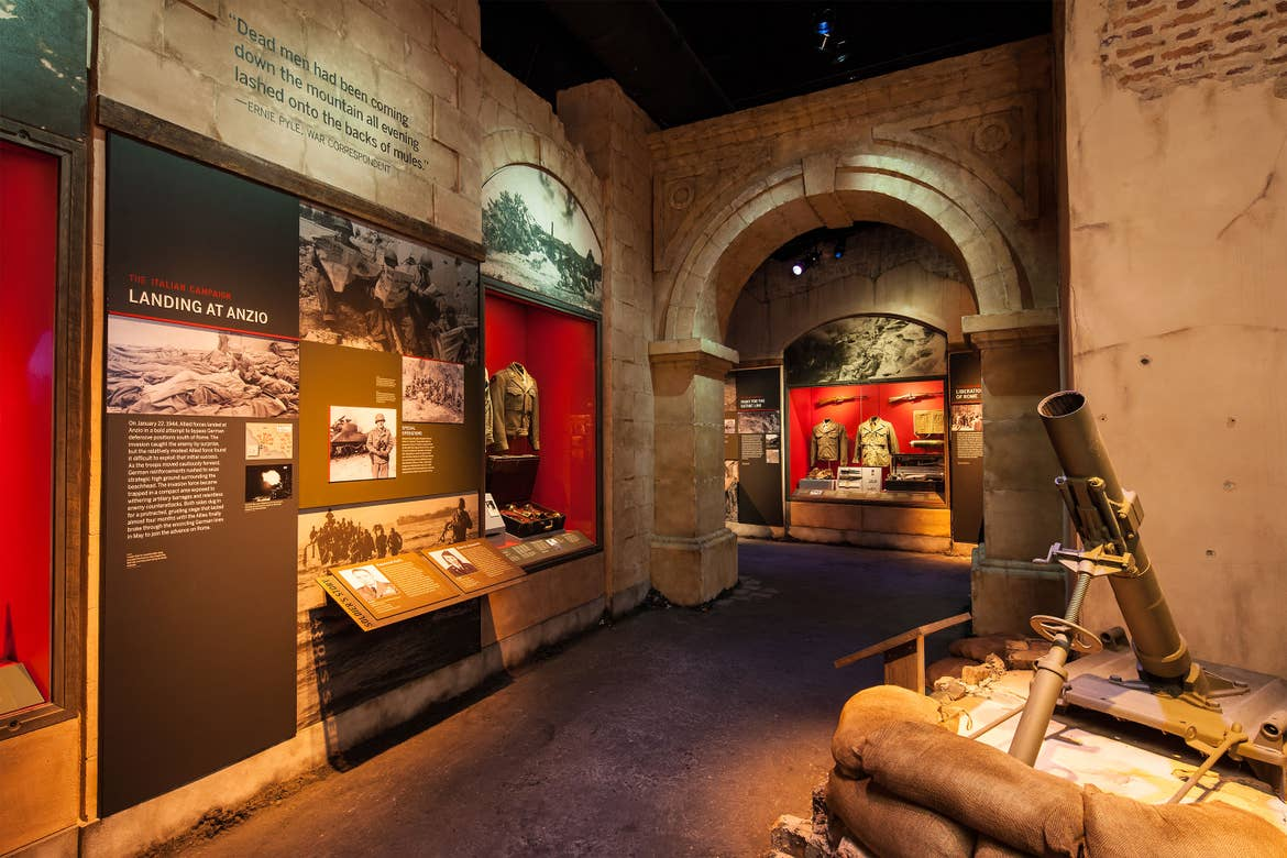 An interior shot of the National World War II Museum of New Orleans 'the Road to Berlin' exhibit.