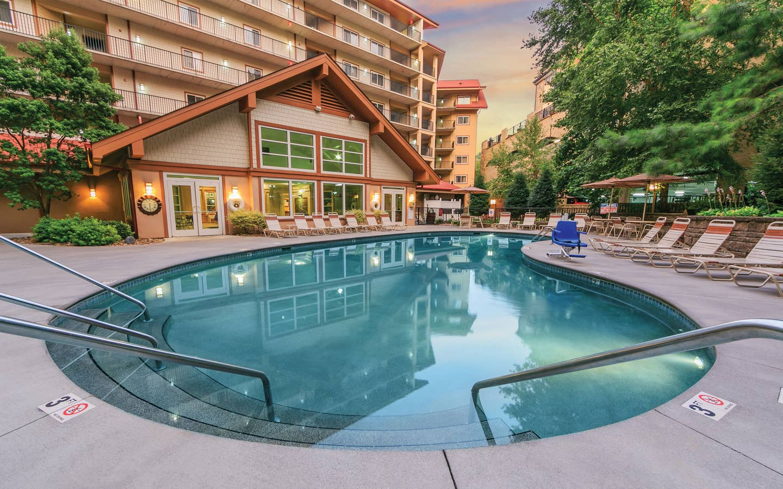 Outdoor pool at Smoky Mountain Resort