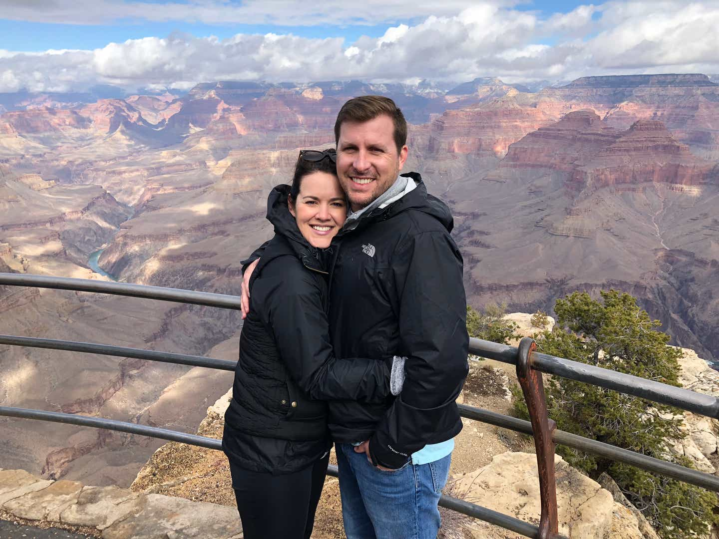 Jenn and her husband Anthony at the Grand Canyon