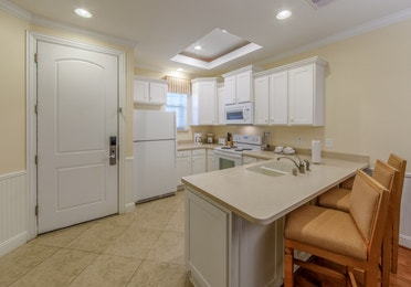 Kitchen in a two-bedroom presidential villa at Galveston Seaside Resort