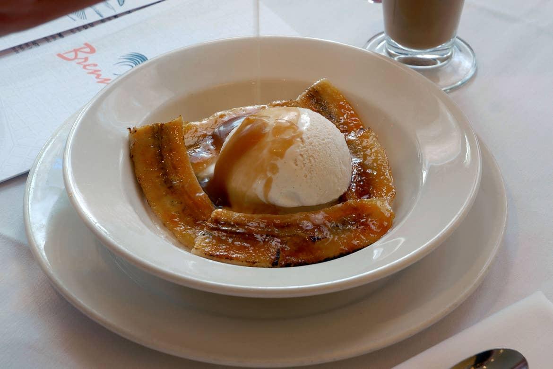 Brennan's famous Banana Foster dish.