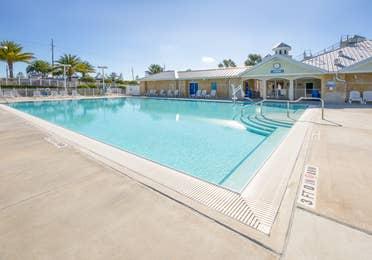 Outdoor swimming pool at Orlando Breeze Resort in Florida.
