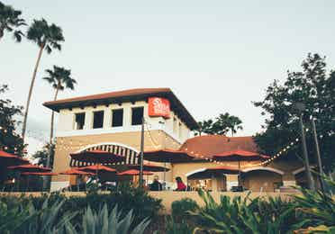 Exterior of Paisan Pizzeria in North Village at Orange Lake Resort near Orlando, Florida